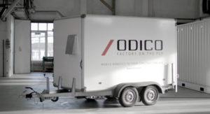 Fliseskærerobot Cut' n Move hurtig og mobil robot trailer